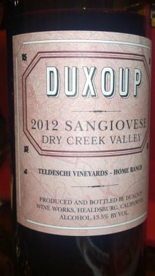 Duxoup Dry Creek Valley Sangiovese
