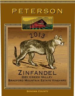 Peterson Winery Dry Creek Valley Bradford Mountain Estate Vineyard Zinfandel