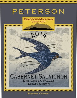 Peterson Winery Dry Creek Valley Bradford Mountain Estate Vineyard Cabernet Sauvignon