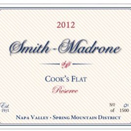 "Smith-Madrone Spring Mountain Napa Valley ""Cooks Flat"" Cabernet Sauvignon"