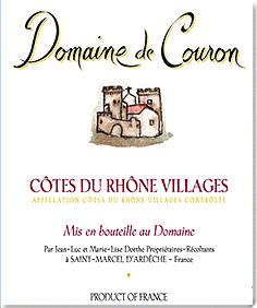 Domaine de Couron Côtes du Rhône Villages Rouge